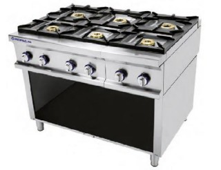Cocina A Gas 6 Fuegos Sin Horno Repagas Serie 750