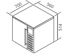 MEDIDAS Abatidor-congelador compacto 3 GN 1/1