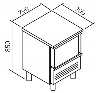 Mesas abatidores- congeladores 5 GN 1/1 PANEL FAST
