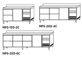 mesas refrigeradas con cajones edenox serie 600