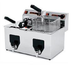 freidora-electrica-de-6+6 litros-con-grifo-fiamma