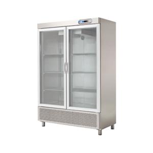 Armario refrigeración dos puertas de cristal para hostelería. Maquinaria para hostelería
