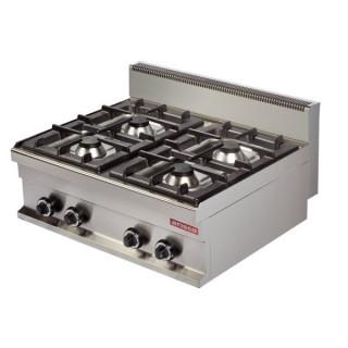 Cocina industrial a gas 4 fuegos 4x6kw gr721s maquinaria for Cocina 6 fuegos industrial