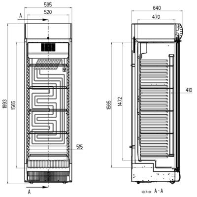 acotacion armario expositor hosteleria